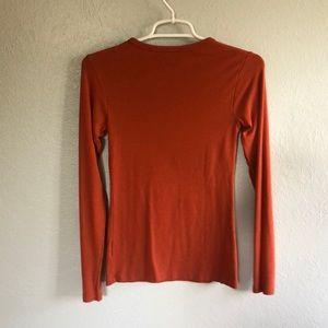 Orvis Tops - Orange Orvis Long Sleeve Tee XSmall